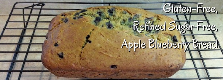 Gluten-Free, Refined Sugar-Free Apple Blueberry Bread Recipe